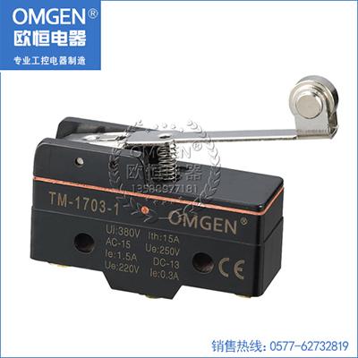 欧恒电器 TM-1703-1防浸型微动开关 行程开